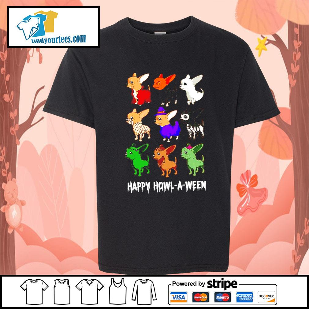Chihuahua Happy Howl A Ween Halloween s Kid-T-shirt