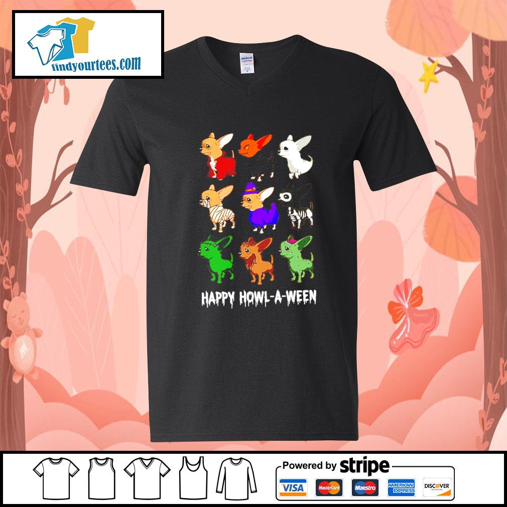 Chihuahua Happy Howl A Ween Halloween s V-neck-T-shirt