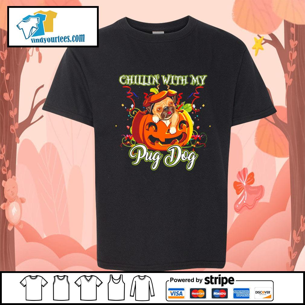 Chillin' with my Pug dog Halloween s Kid-T-shirt