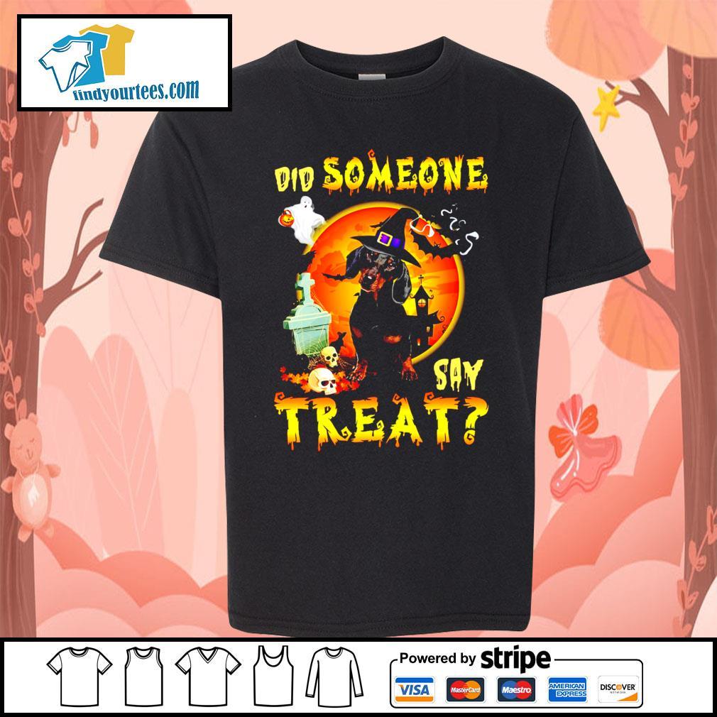 Dachshund did someone say treat Halloween s Kid-T-shirt