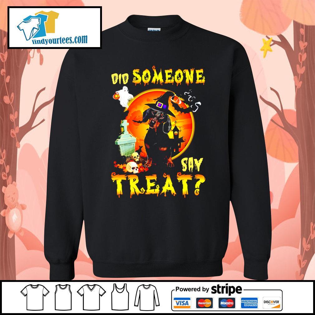 Dachshund did someone say treat Halloween s Sweater