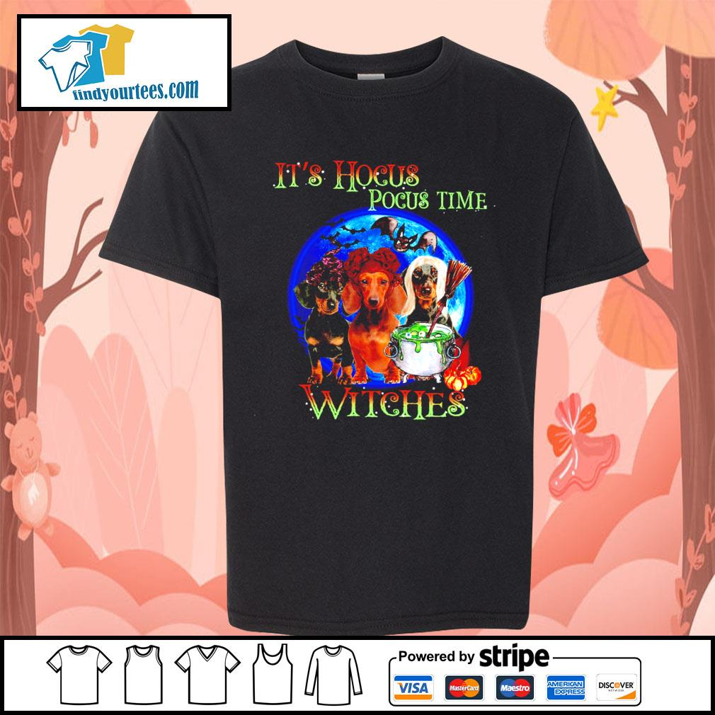 Dachshund it's Hocus Pocus time witches Halloween s Kid-T-shirt
