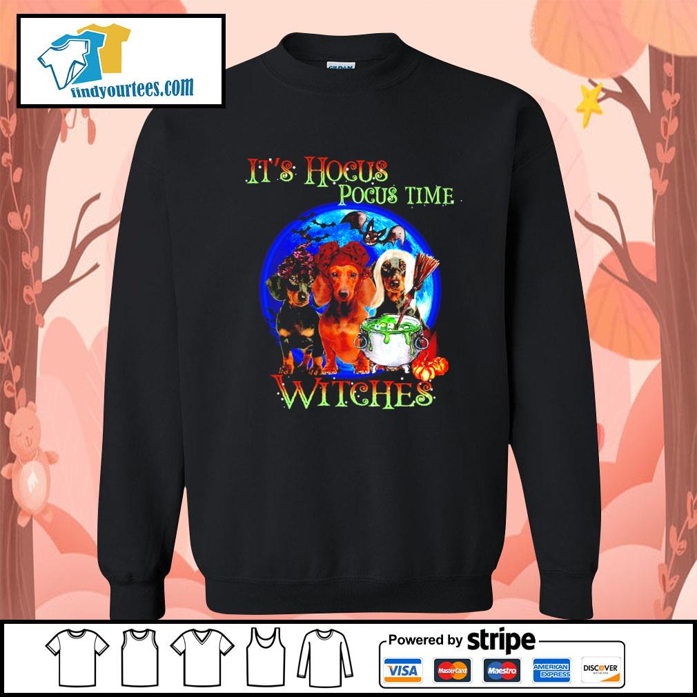 Dachshund it's Hocus Pocus time witches Halloween s Sweater