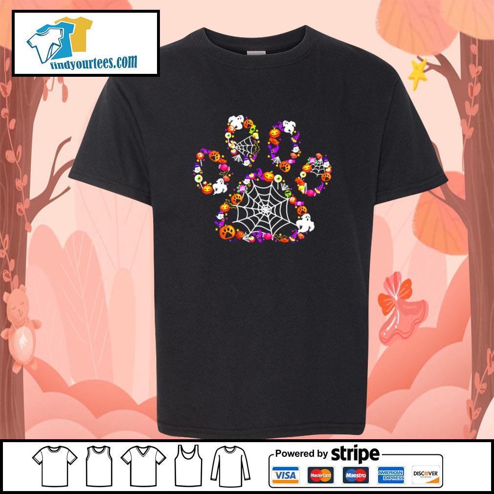 Dog Paw happy Halloween s Kid-T-shirt