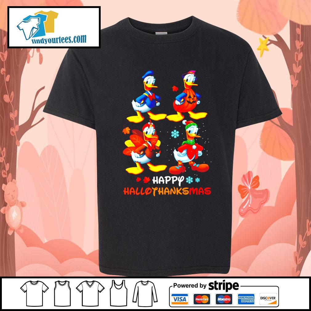 Donald happy Hallothanksmas Halloween s Kid-T-shirt