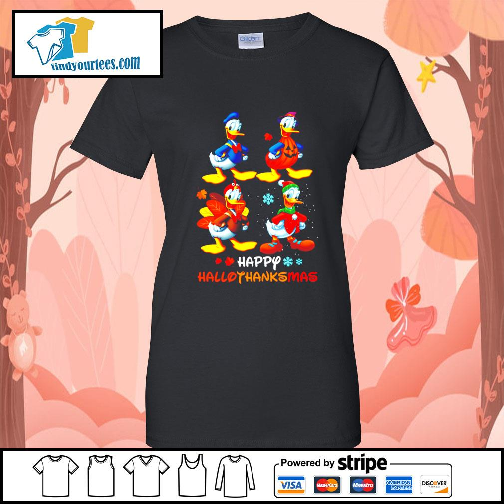 Donald happy Hallothanksmas Halloween s Ladies-Tee