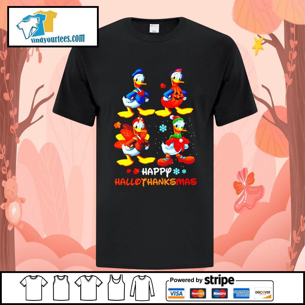 Donald happy Hallothanksmas Halloween shirt