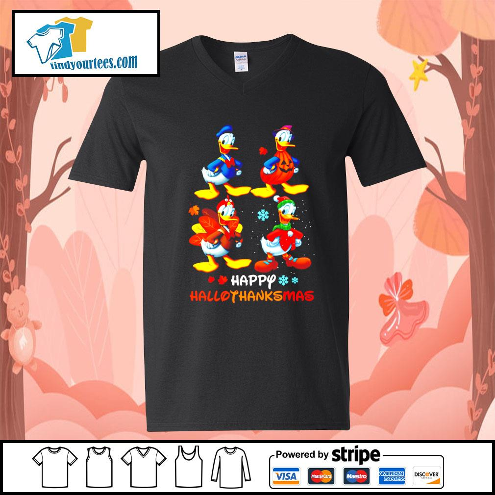 Donald happy Hallothanksmas Halloween s V-neck-T-shirt