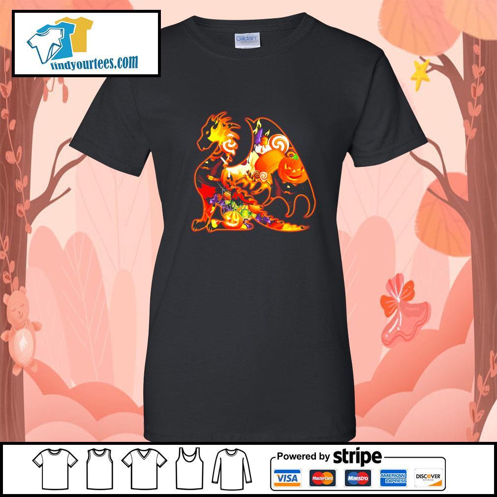 Dragon Happy Halloween s Ladies-Tee