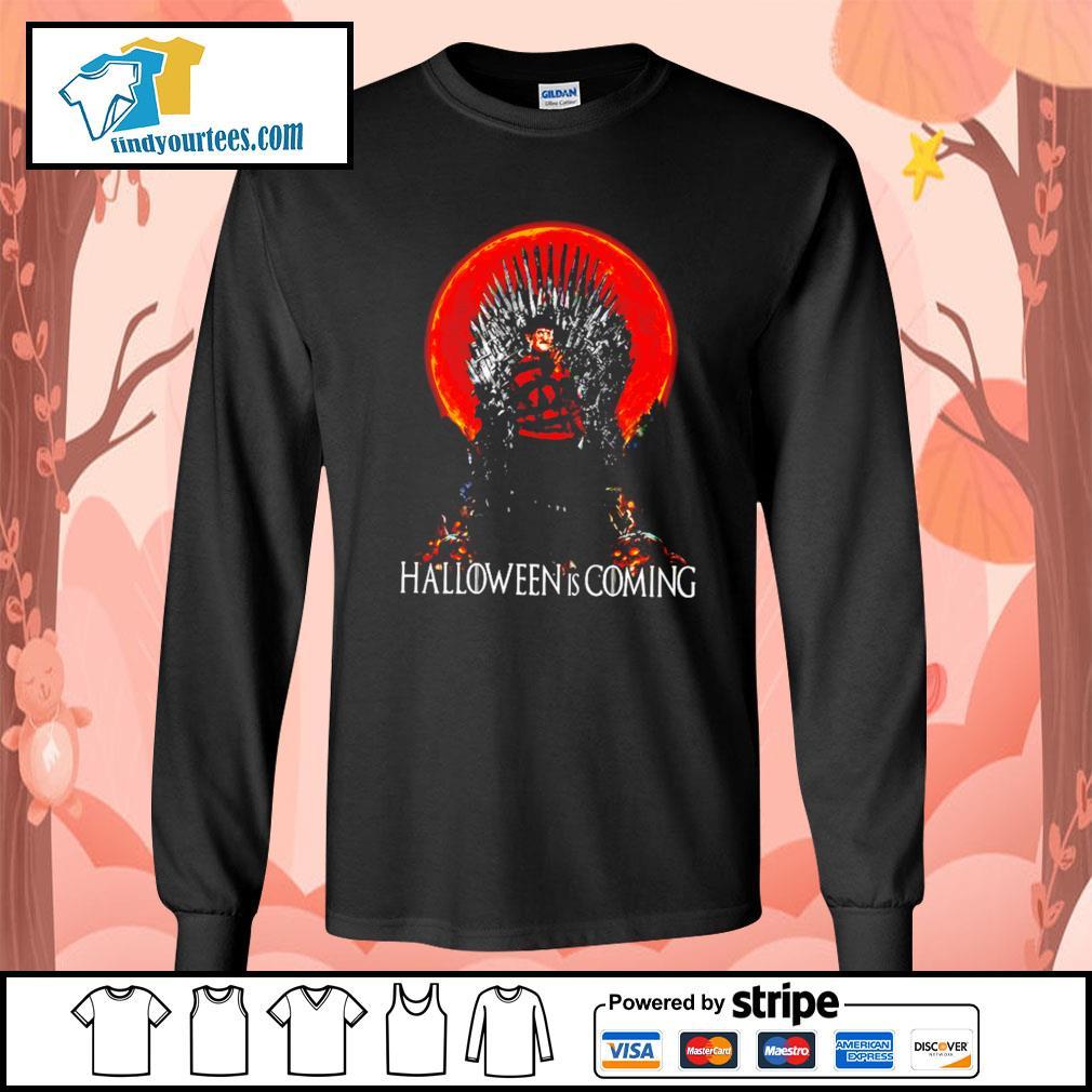 Freddy Krueger Halloween is coming s Long-Sleeves-Tee