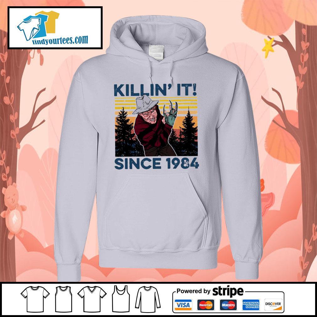 Freddy Krueger Killin' it since 1984 vintage Halloween s Hoodie