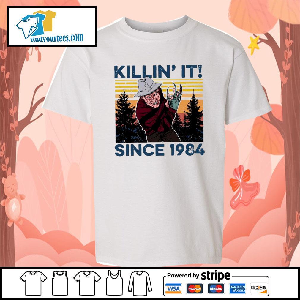 Freddy Krueger Killin' it since 1984 vintage Halloween s Kid-T-shirt