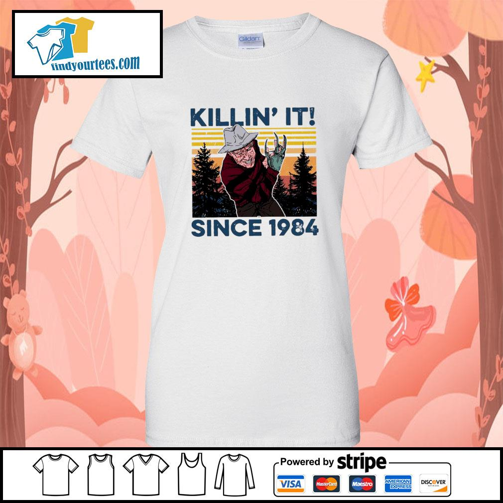 Freddy Krueger Killin' it since 1984 vintage Halloween s Ladies-Tee