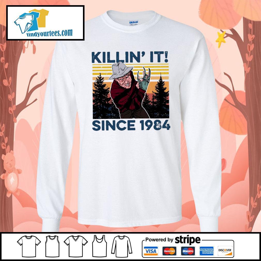 Freddy Krueger Killin' it since 1984 vintage Halloween s Long-Sleeves-Tee