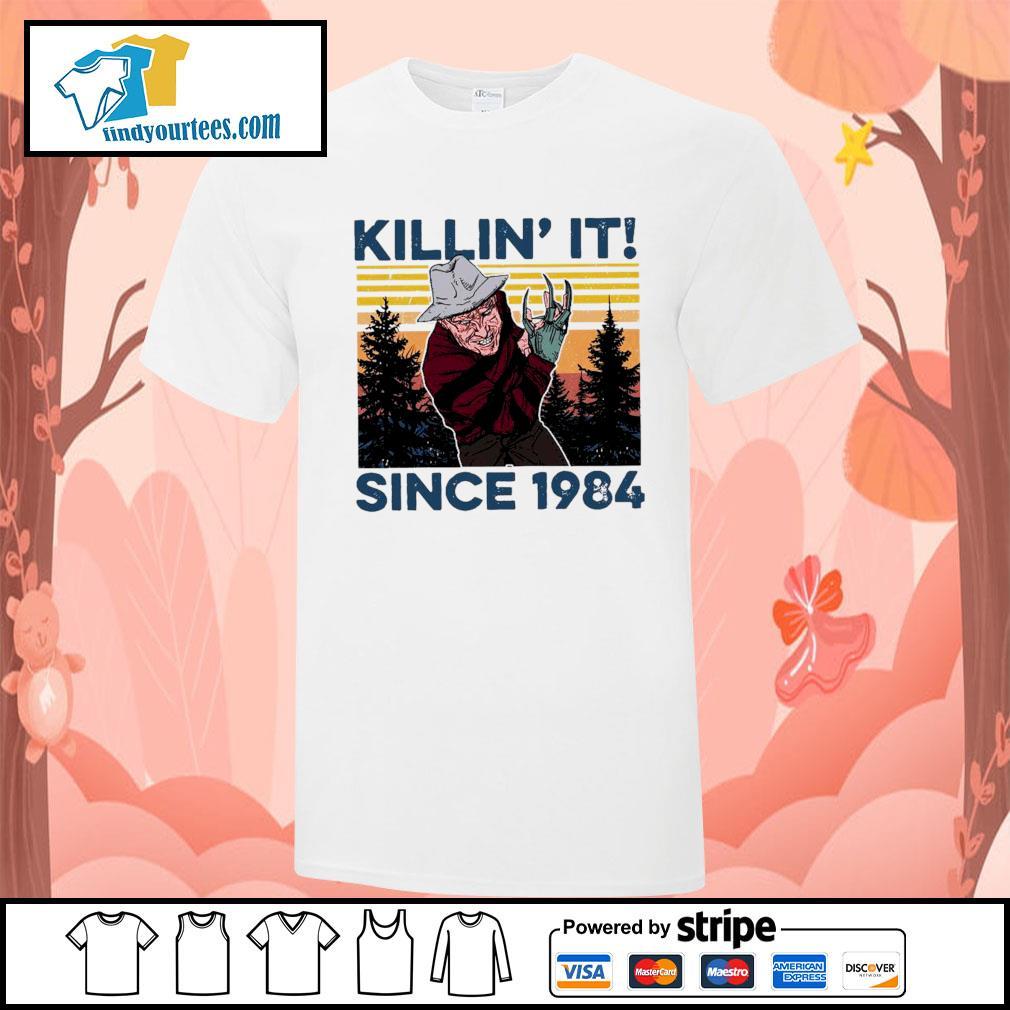 Freddy Krueger Killin' it since 1984 vintage Halloween shirt