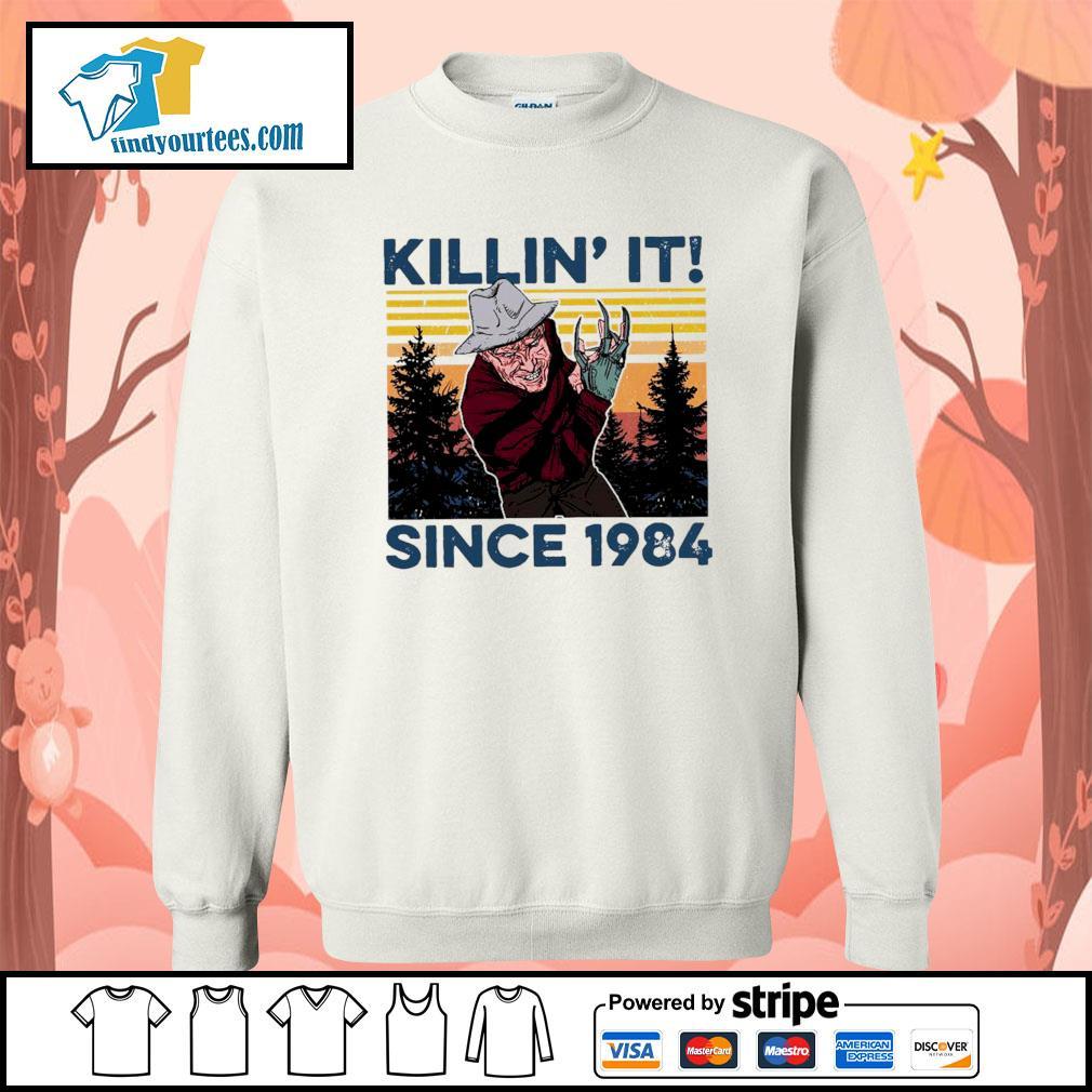 Freddy Krueger Killin' it since 1984 vintage Halloween s Sweater