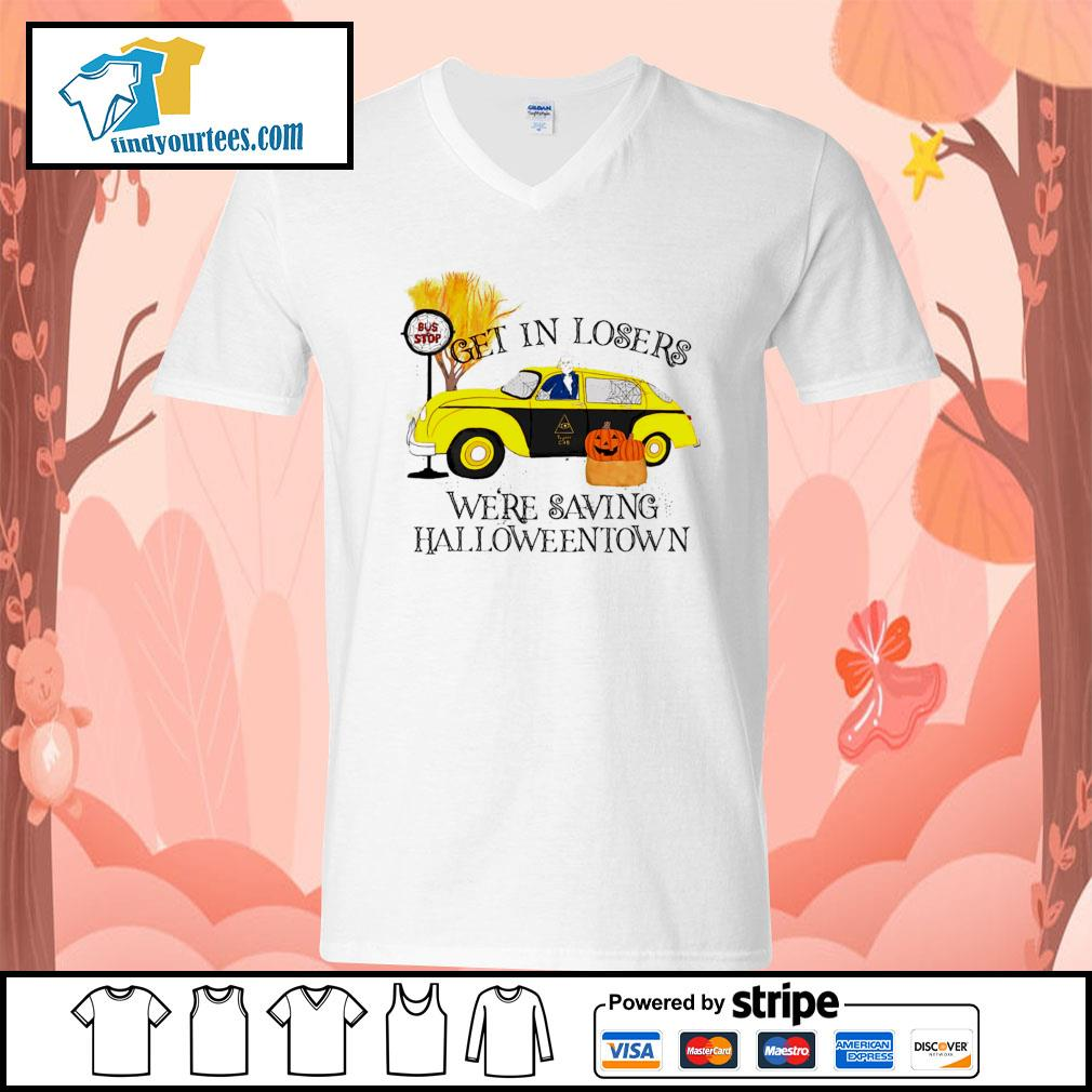 Get in losers were saving Halloweentown s V-neck-T-shirt