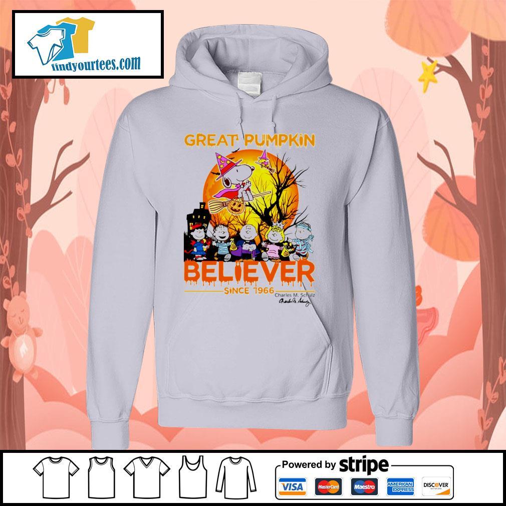 Great Pumpkin believer since 1966 Charles M. Schulz signature Halloween s Hoodie