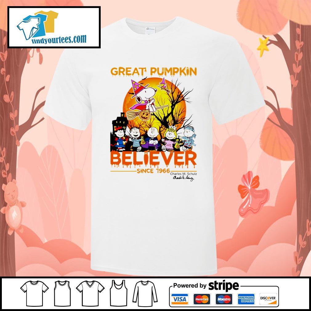 Great Pumpkin believer since 1966 Charles M. Schulz signature Halloween shirt
