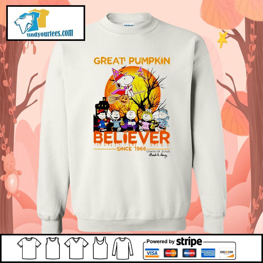 Great Pumpkin believer since 1966 Charles M. Schulz signature Halloween s Sweater