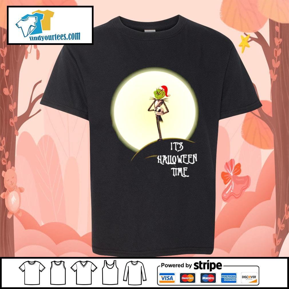 Grinch Jack Skellington it's Halloween time s Kid-T-shirt