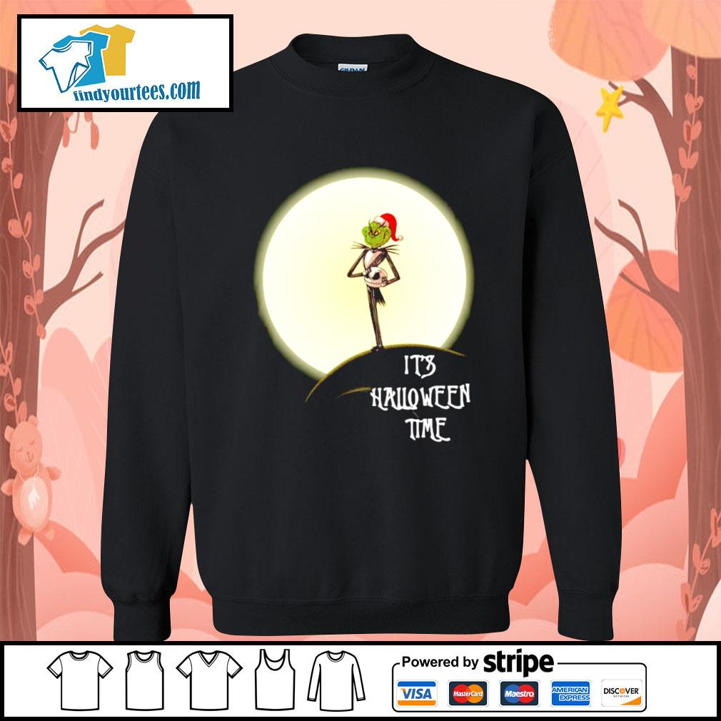 Grinch Jack Skellington it's Halloween time s Sweater