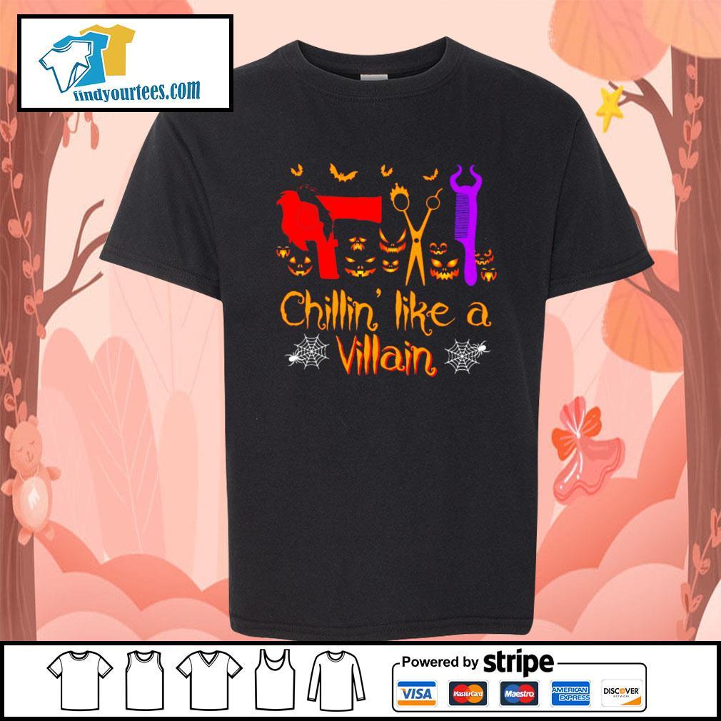 Hairstyl Chillin' like a villain Halloween s Kid-T-shirt