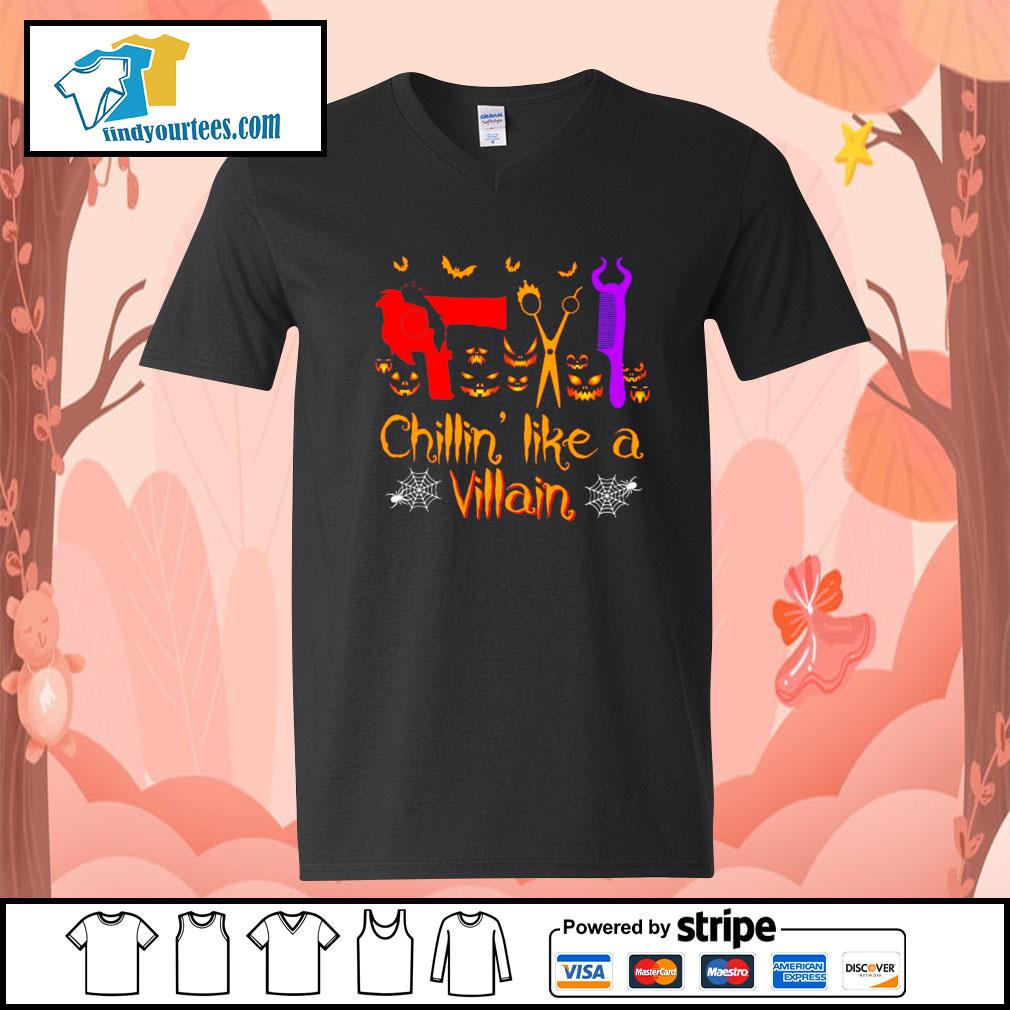 Hairstyl Chillin' like a villain Halloween s V-neck-T-shirt