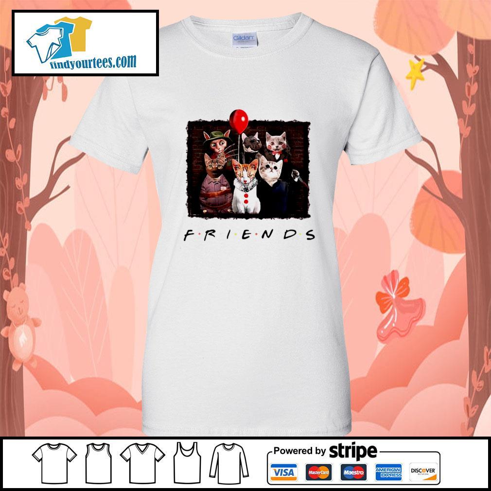 Halloween Friends tv show cat Horror movie character s Ladies-Tee
