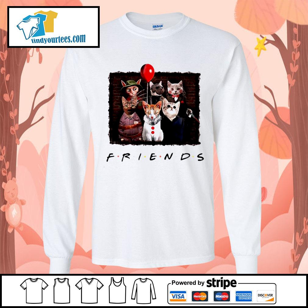 Halloween Friends tv show cat Horror movie character s Long-Sleeves-Tee
