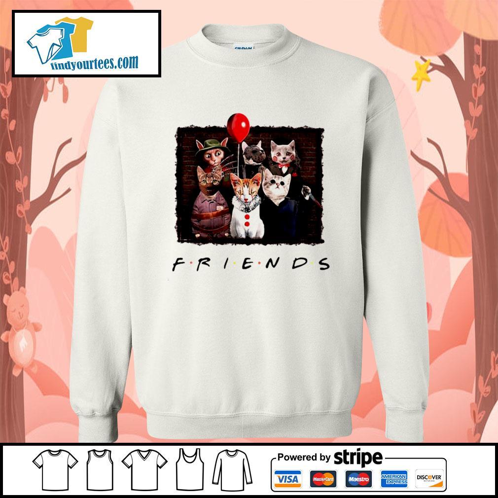 Halloween Friends tv show cat Horror movie character s Sweater