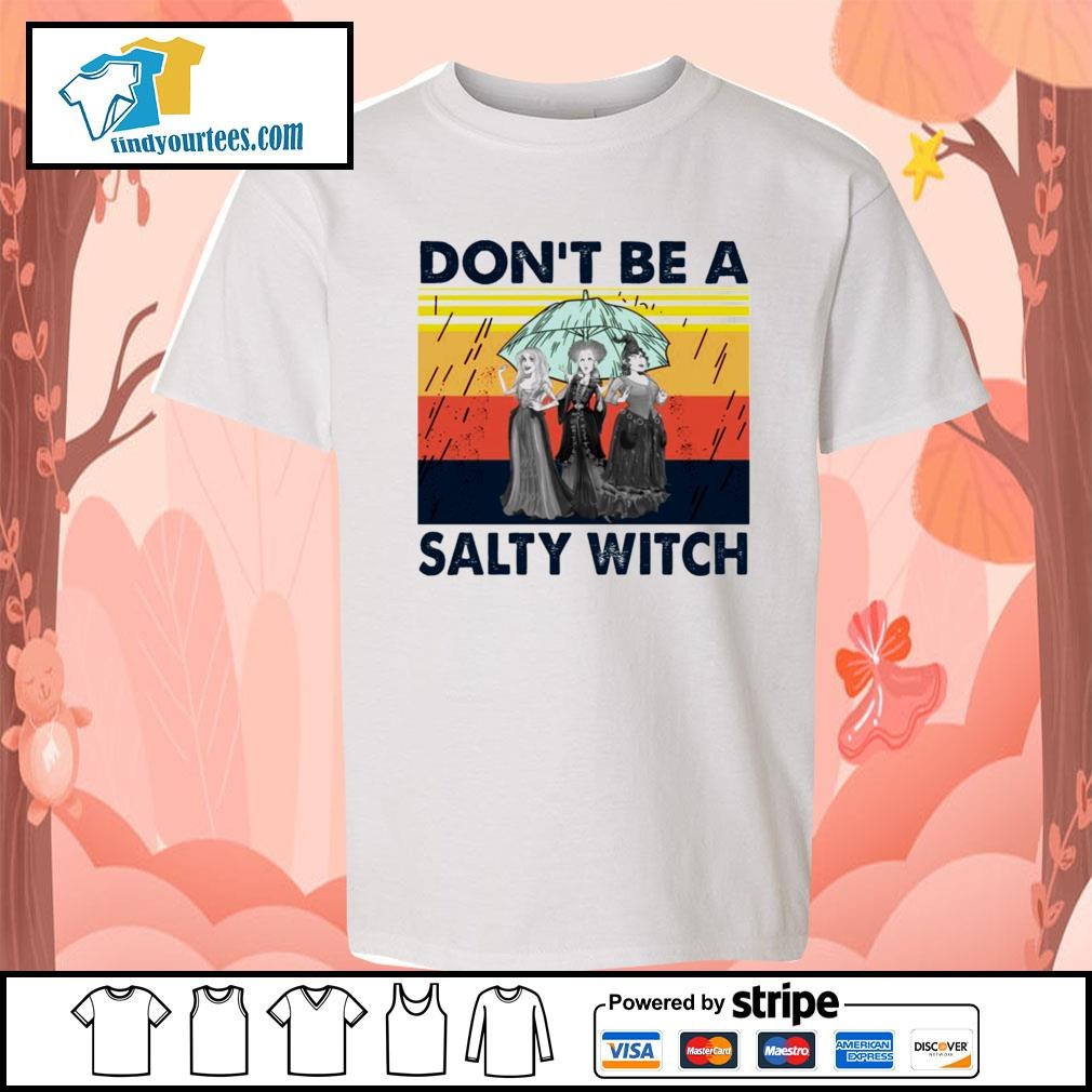 Hocus Pocus don't be a salty witch vintage s Kid-T-shirt
