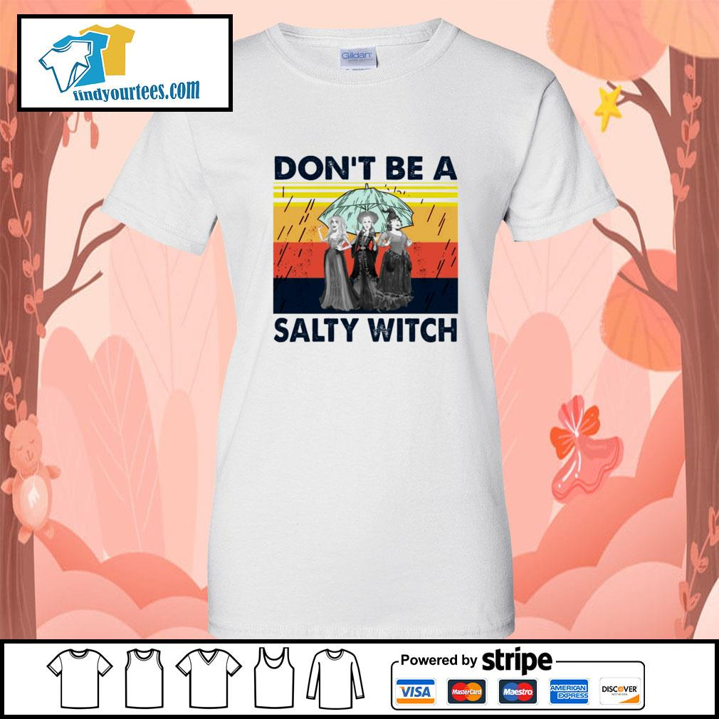 Hocus Pocus don't be a salty witch vintage s Ladies-Tee