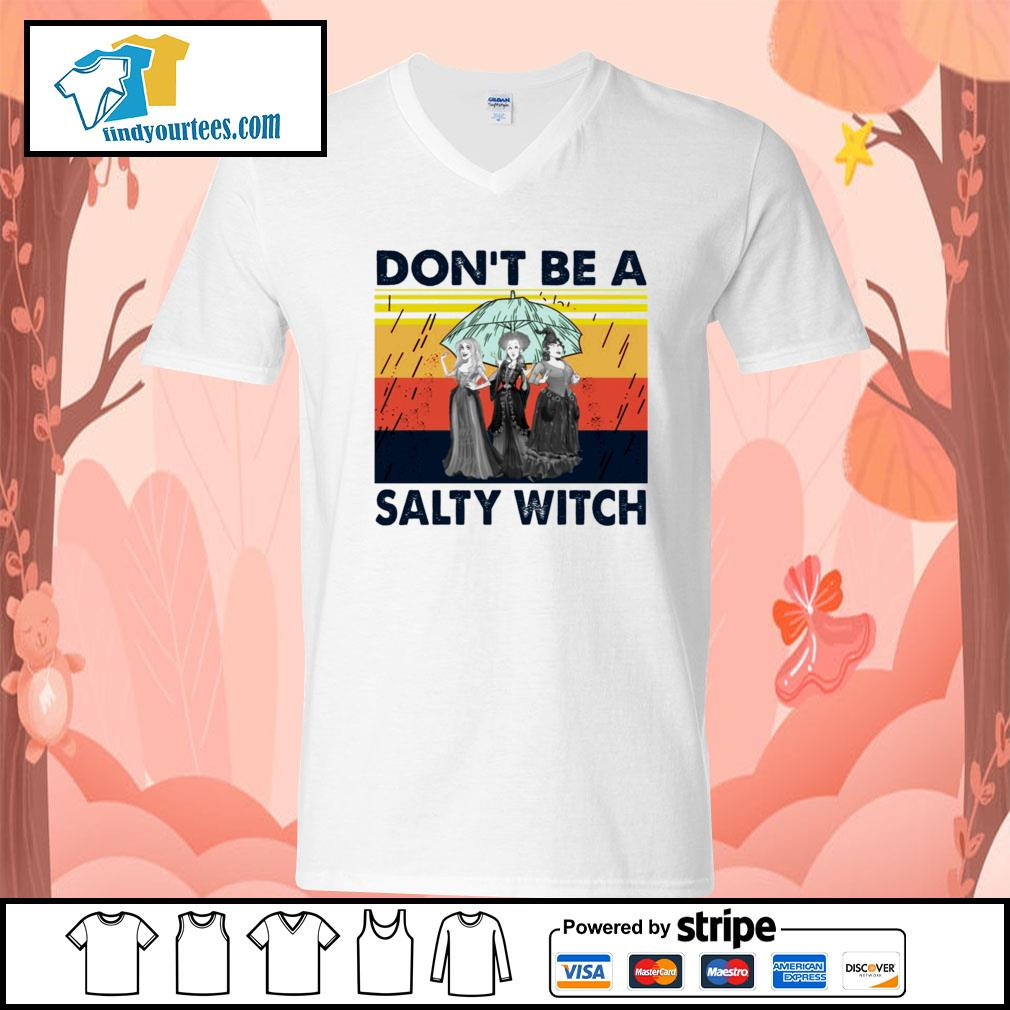 Hocus Pocus don't be a salty witch vintage s V-neck-T-shirt