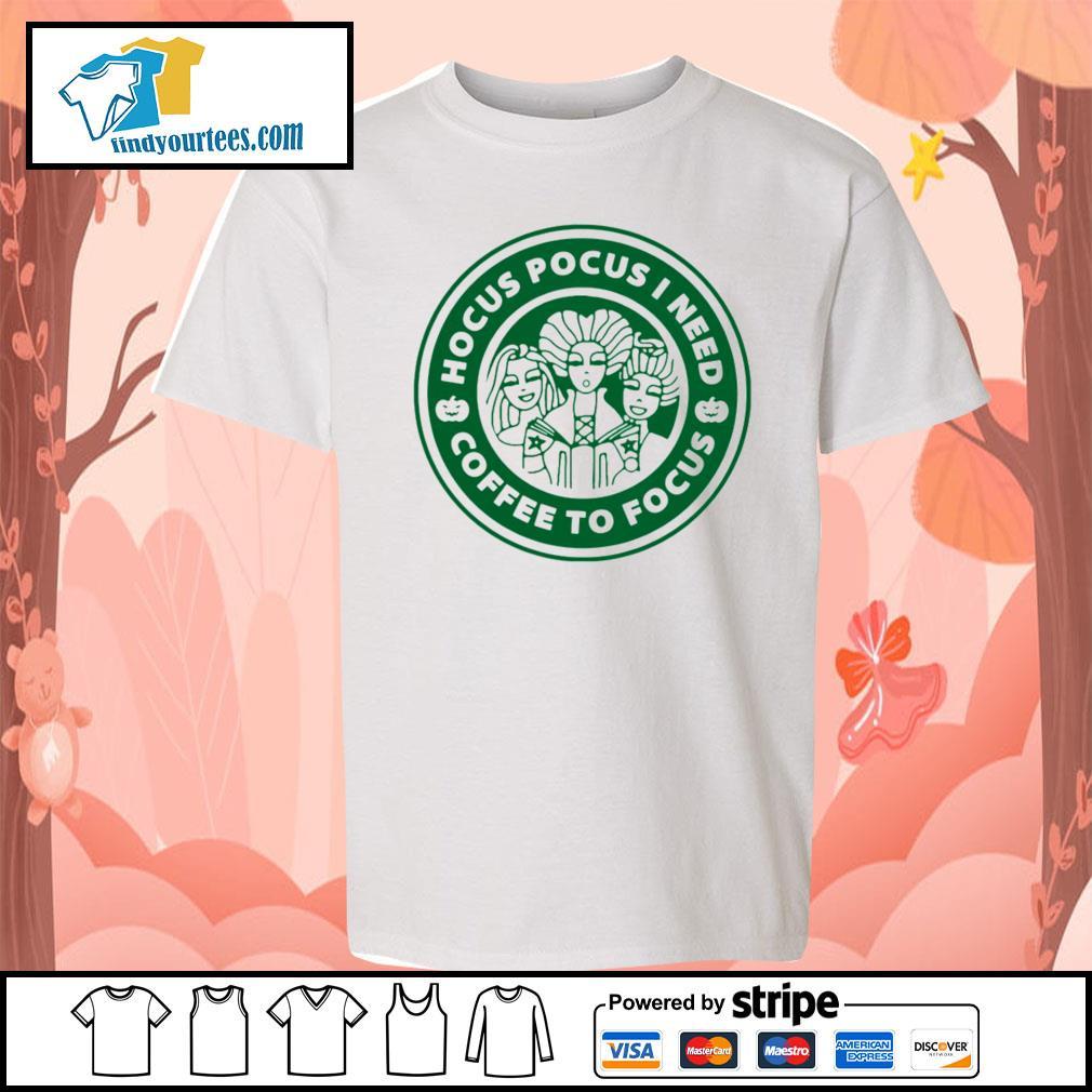 Hocus Pocus I need coffee to Focus s Kid-T-shirt
