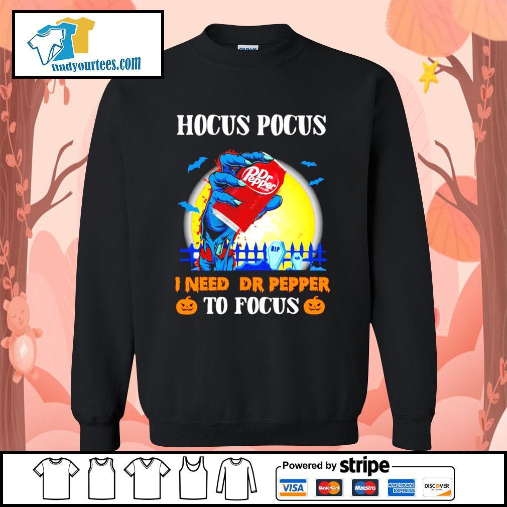 Hocus Pocus I need Dr Pepper to Focus Halloween s Sweater