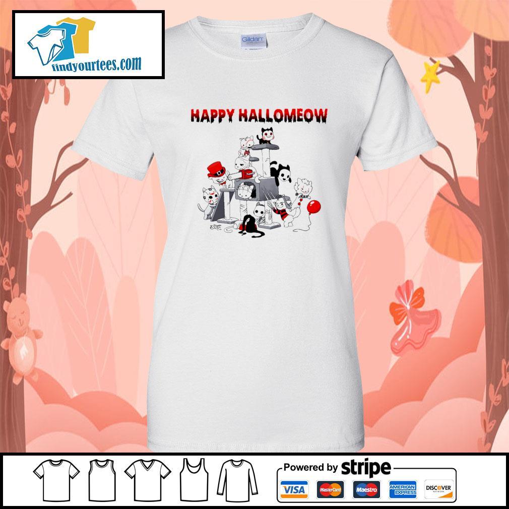 Horror Cats Happy Halloween s Ladies-Tee