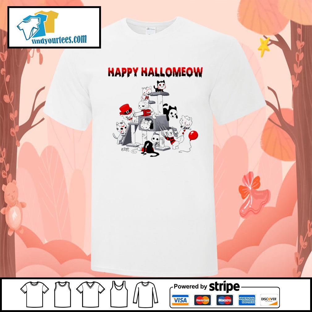 Horror Cats Happy Halloween shirt