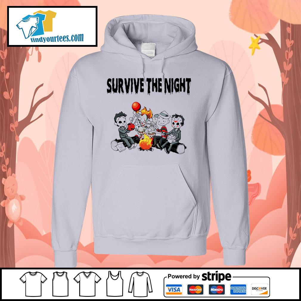 Horror movie character survive the night s Hoodie