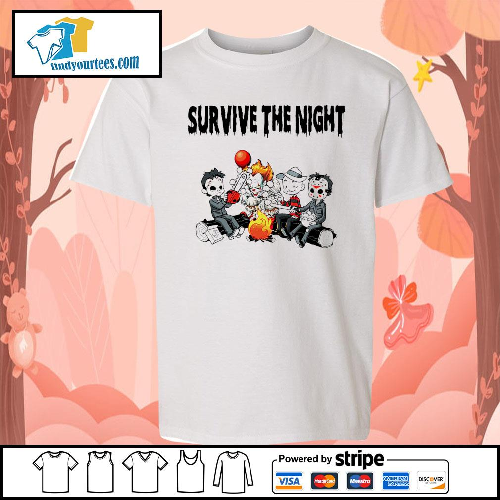 Horror movie character survive the night s Kid-T-shirt