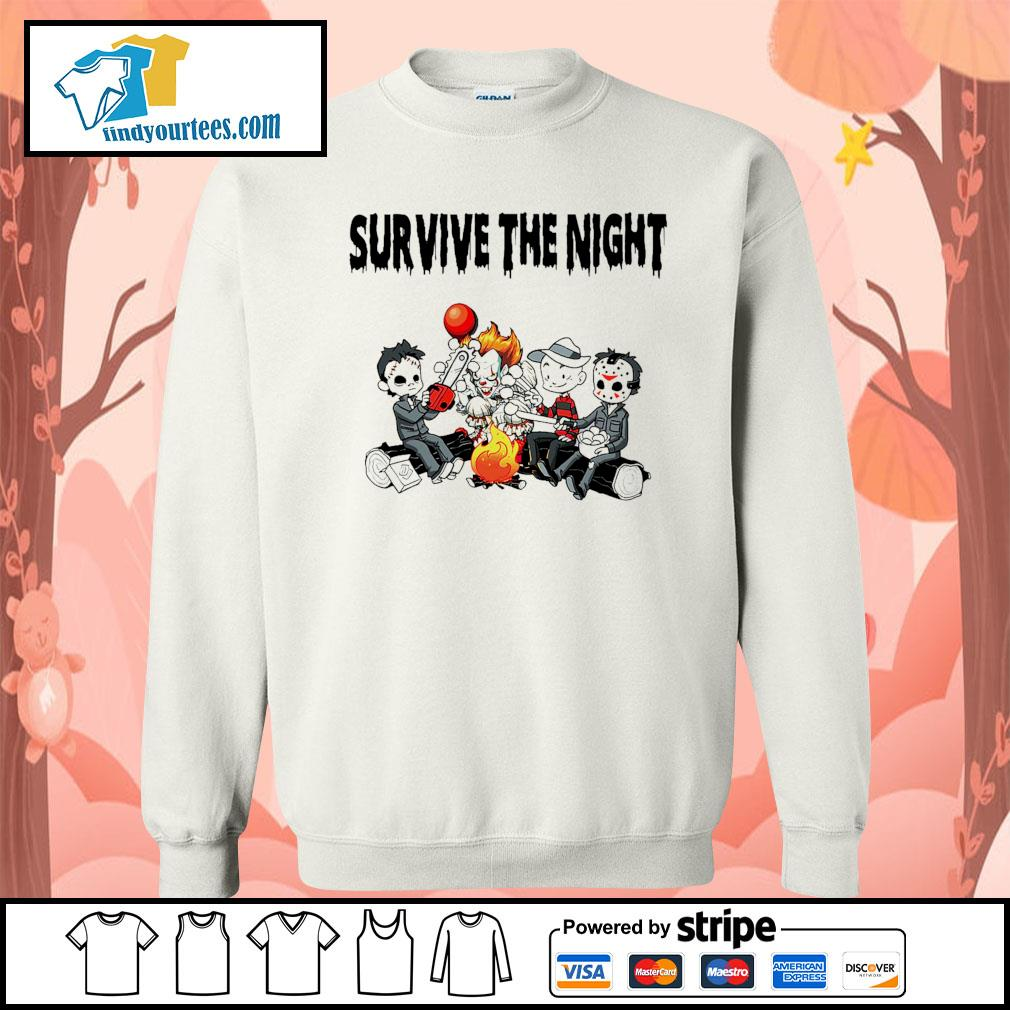 Horror movie character survive the night s Sweater