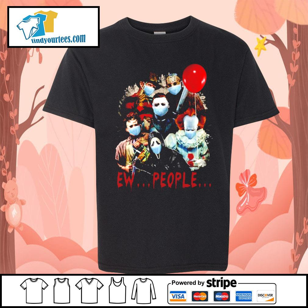 Horror movie characters Ew people s Kid-T-shirt