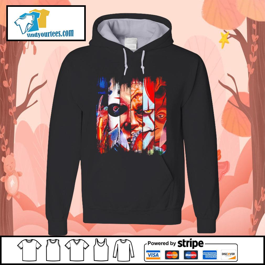 Horror movie characters face Halloween s Hoodie