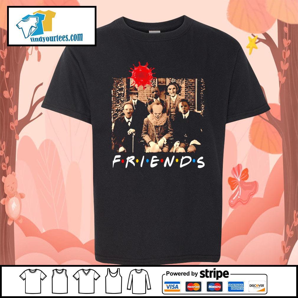Horror movie characters friends tv show Coronavirus Halloween s Kid-T-shirt