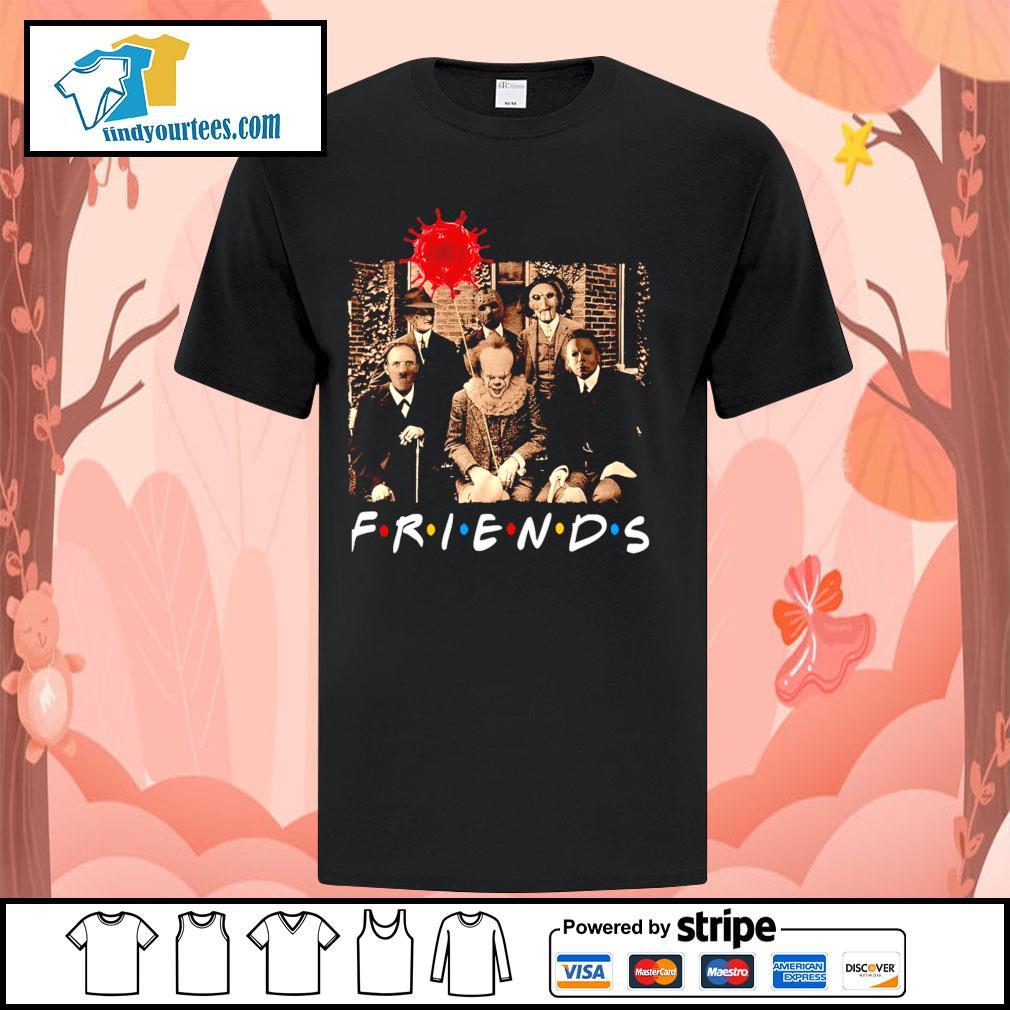 Horror movie characters friends tv show Coronavirus Halloween shirt