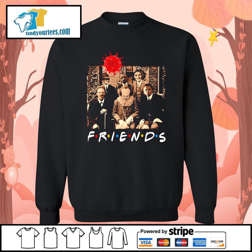 Horror movie characters friends tv show Coronavirus Halloween s Sweater