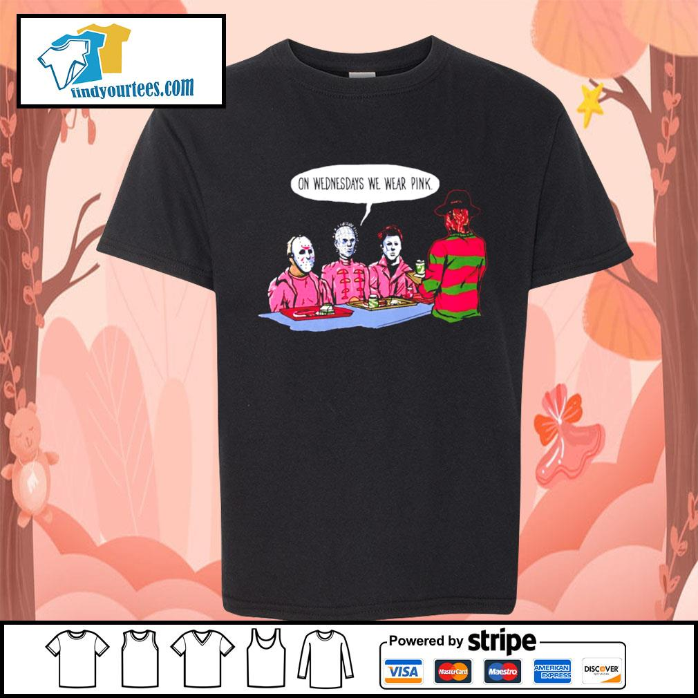 Horror movie characters on wednesdays we wear pink s Kid-T-shirt