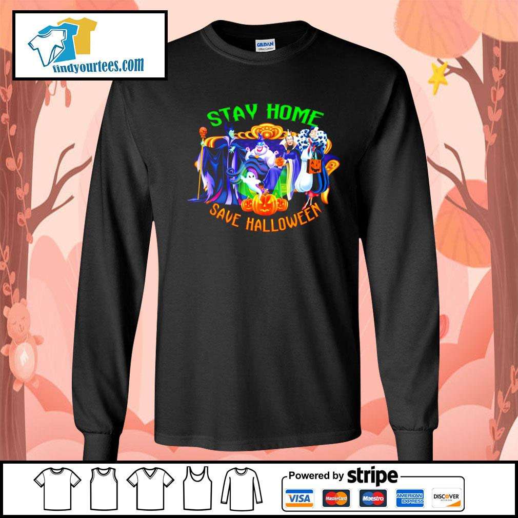 Horror movie characters stay home save Halloween s Long-Sleeves-Tee