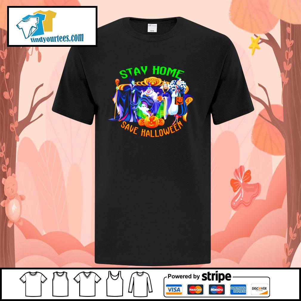 Horror movie characters stay home save Halloween shirt