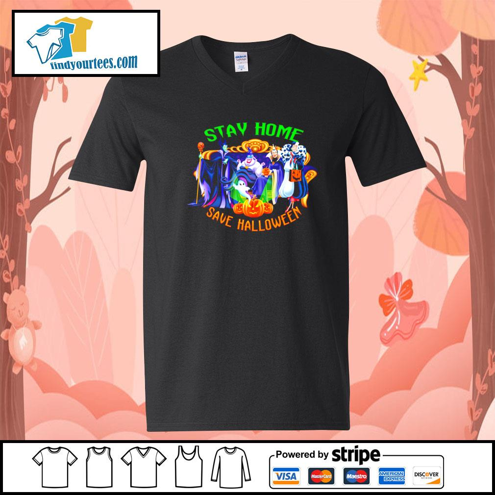 Horror movie characters stay home save Halloween s V-neck-T-shirt